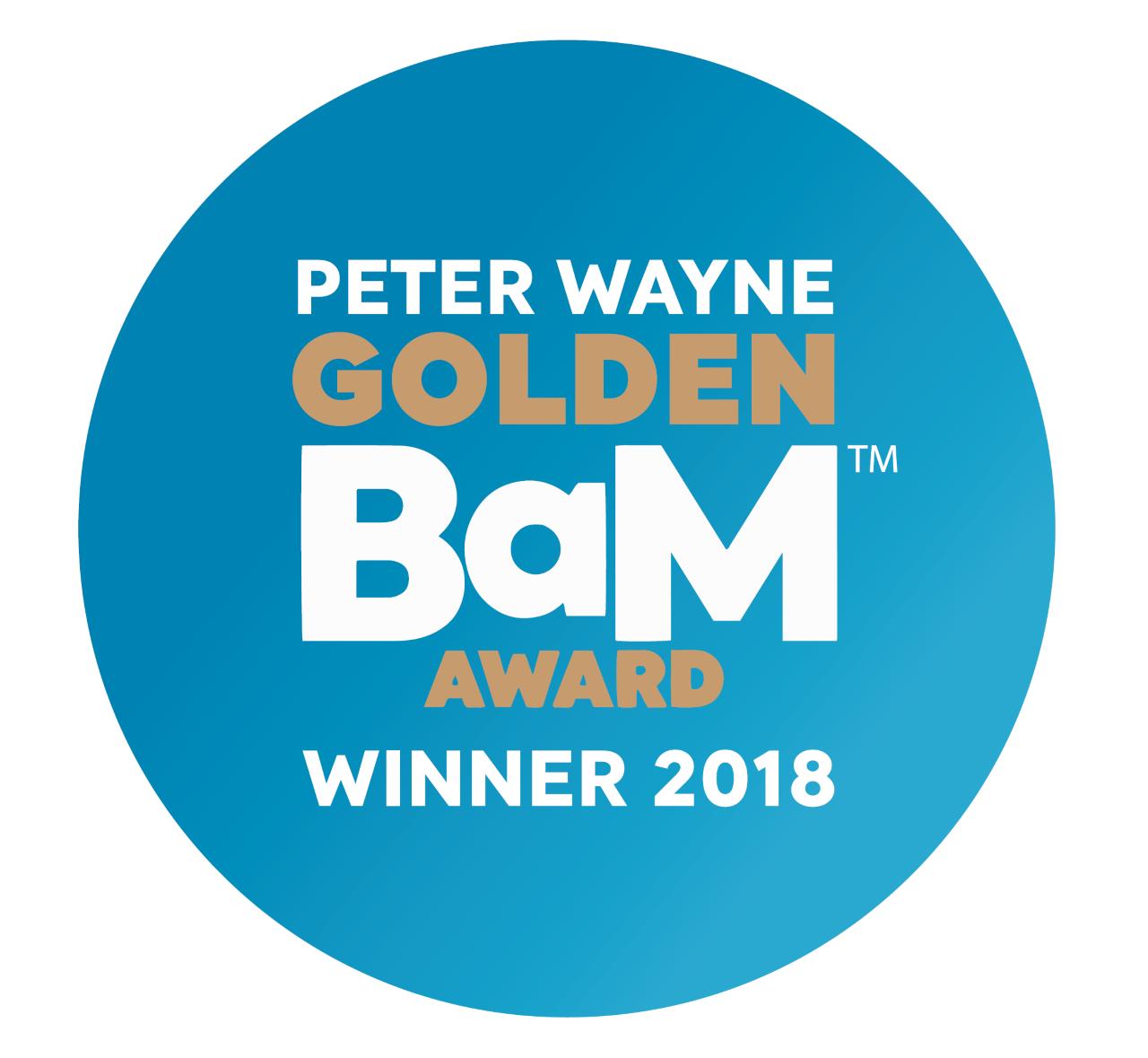 IABM Peter Wayne Golden BaM Award logo