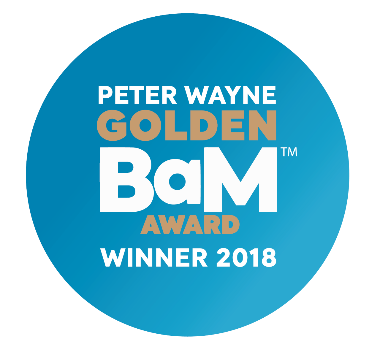 IABM Peter Wayne Golden BaM Award logo